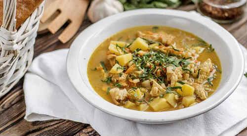 zupa grzybowa z kaszą jęczmienną
