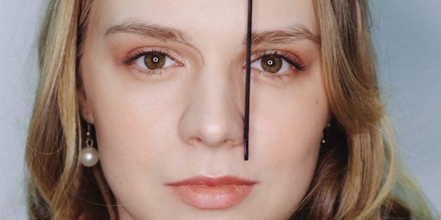 Jak wybrać kształt brwi: określ początek brwi