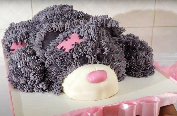 DIY tort dla dzieci Miś - przepis krok po kroku ze zdjęciem
