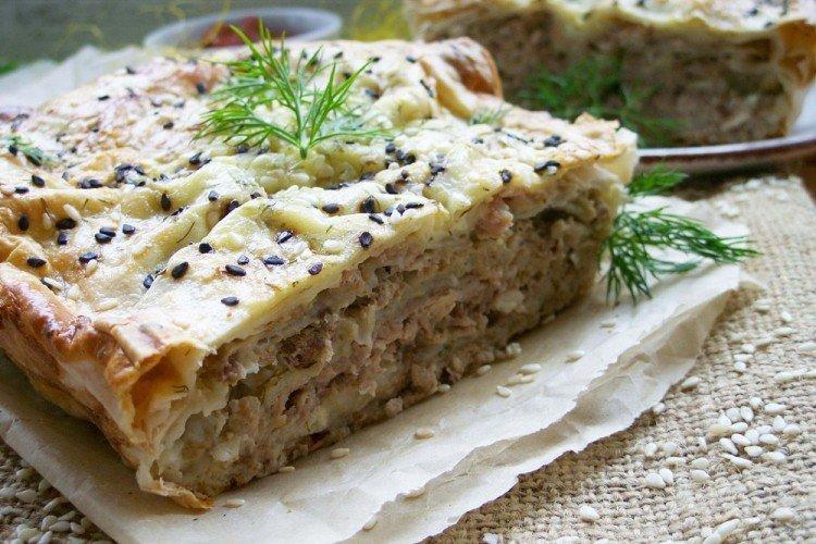 Ciasto z mięsem lawaszowym
