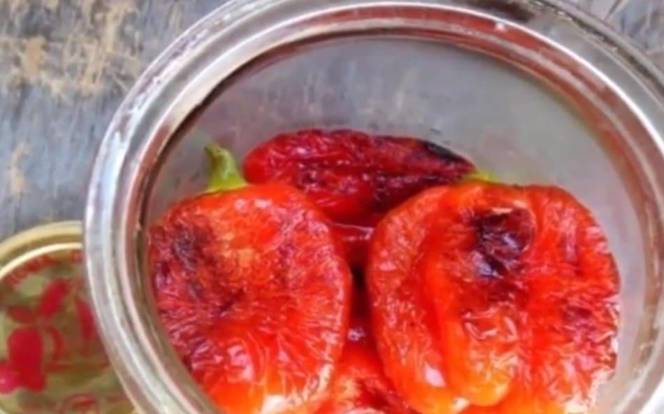 Papryka z czosnkiem na zimę