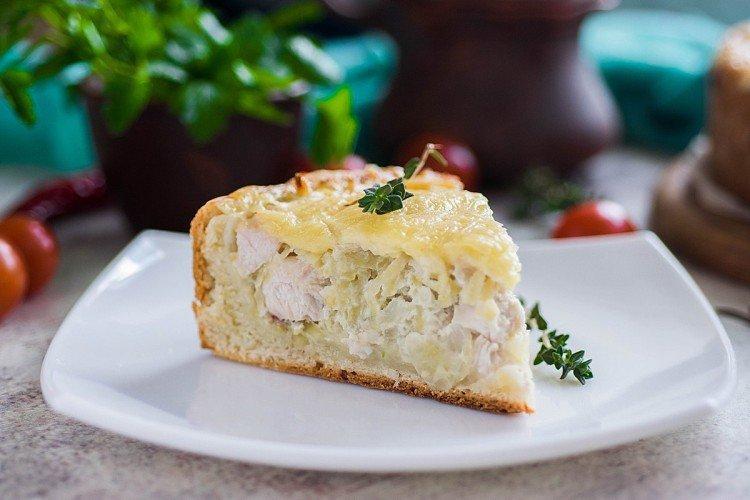 Ciasto z kurczakiem i twarogiem - przepisy kulinarne